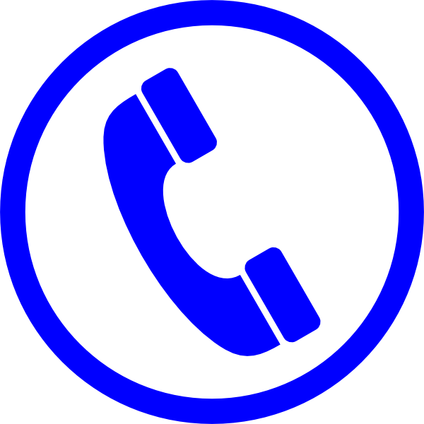 blue telephone symbol hi